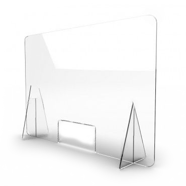 modelo mampara protectora cristal